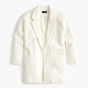 New JCREW Ivory Sophie open-front sweater-blazer